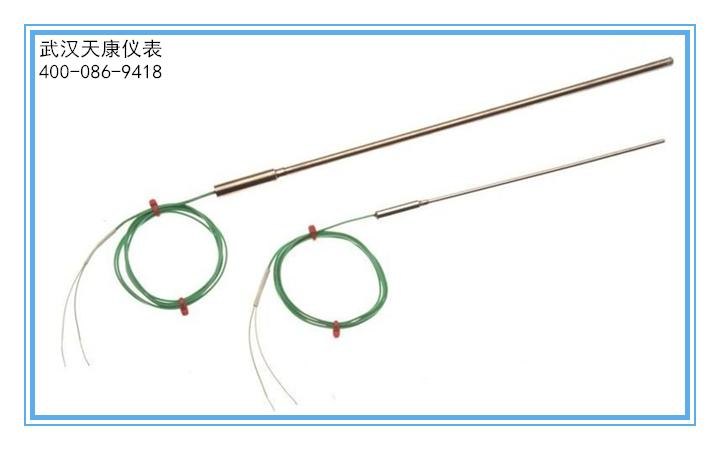 武汉热电阻:tkwzpk固定卡套法兰补偿导线式铠装热电阻